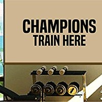 Dabbledown Champions Train Here Window Lettering Decal Sticker Decals Stickers