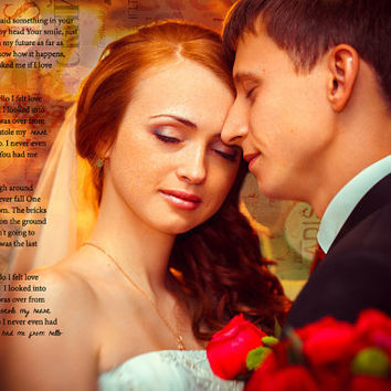 First Dance Wedding Song Lyrics Photo Art Custom Photo Editing