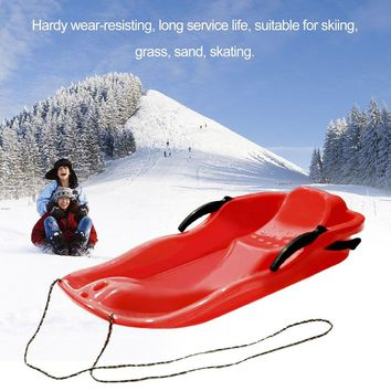 Snow Boards Sled Luge 7 different colors Sand Board Ski  Snowboard With Rope For Double People