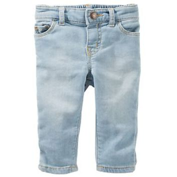 Baby Girl OshKosh B'gosh® Elastic-Back Jeans