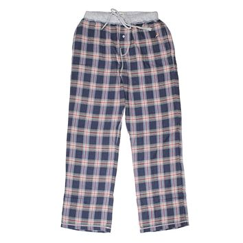 Dakota Plaid Flannel Pant in Indigo by True Grit