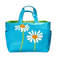 Daisy Carry All Tote - Turquoise