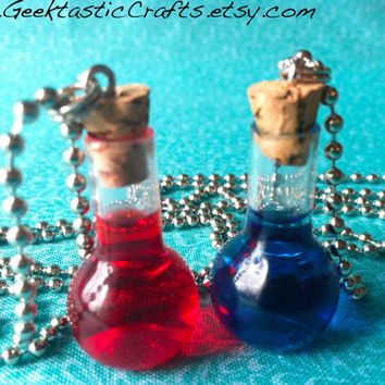 Health or Mana Potion Bottle Necklace