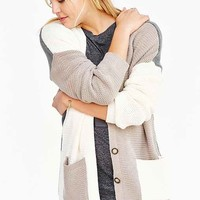 BDG Slouchy Colorblock Cardigan