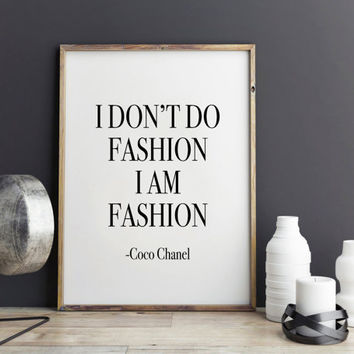 Fashion Print, Bathroom art print, Dorm decor, wall art quote, printable quotes, typographic print