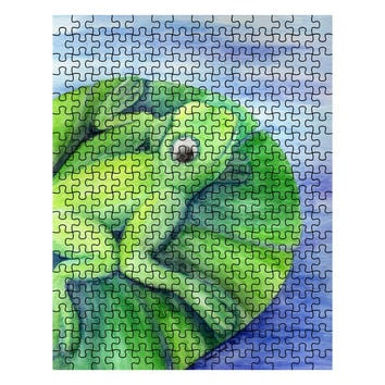 Cleanse Replenish Adapt - 252 Piece Puzzle Watercolor Pencil Frog Fine Art