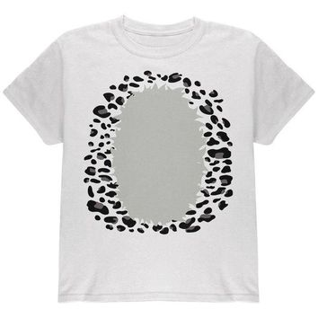 DCCKJY1 Halloween Snow Leopard Costume Youth T Shirt