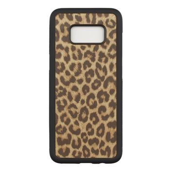 Leopard Print Carved Samsung Galaxy S8 Case