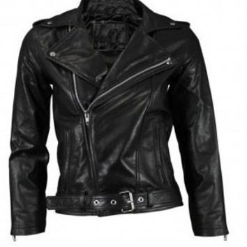 Handmade women Black, handmade pure leather jacket in black color with quality zipper, womens biker leather jacket
