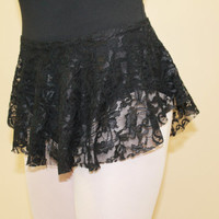 Black SAB Ballet Skirt in Lace