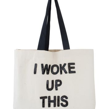 Big Tote Bags - I Woke Up This Pale