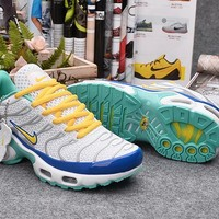 Nike TN White/Royal Blue/Yellow Sport Sneaker Shoe