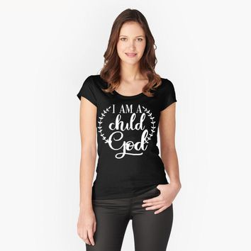 I Am A Child God T-Shirt - Ladies Tops