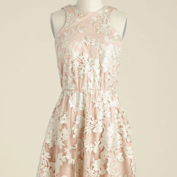 Windflower Waltz Sequin Dress in Rosewater | Mod Retro Vintage Dresses | ModCloth.com