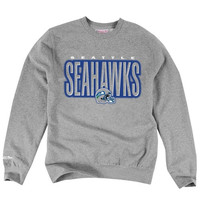Seattle Seahawks Mitchell & Ness Retro Blur Crew Sweatshirt – Gray