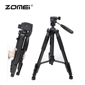 Zomei Professional Aluminum Folding Portable Travel Tripod with 3-way Pan Head Bag for SLR DSLR Camera Q111 Drop Shipping