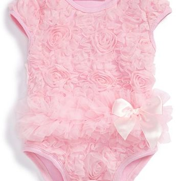 Infant Girl's Popatu Soutache Floral Bodysuit,