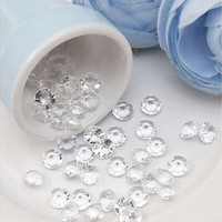 Diamond Confetti Table Scatters Clear 4.5mm Wedding Party Decor Decoration(1000pcs) (Color: Crystal Clear) [7983576135]