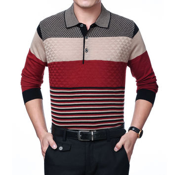 Summer Stylish Men T-shirts Pullover Knit Tops Sweater [6543990659]