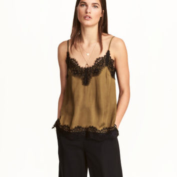 H&M Satin and Lace Camisole Top $24.99