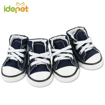 Denim Dog Shoes Sport Anti-slip Sneaker Casual Pet Shoes For Dog Teddy Yorkie Labrador Boots Large Size Dog Shoes 20S1