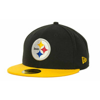 Pittsburgh Steelers NFL Black Team 59FIFTY Cap - http://www.tkqlhce.com/click-7710548-11191294?url=http%3A%2F%2Fshop.neweracap.com%2FNFL%2FPittsburgh-Steelers%2F20465701 / Black/Yellow / 100% Polyester, Woven