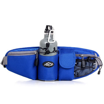 Sports Waist Bag Men Women Pack Outdoor Water Bottle Belt Bag Running Hiking Bicycle Cycling Pannier Road Bike Ride Waist Bags