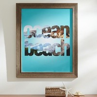 Ocean Beach Framed Art