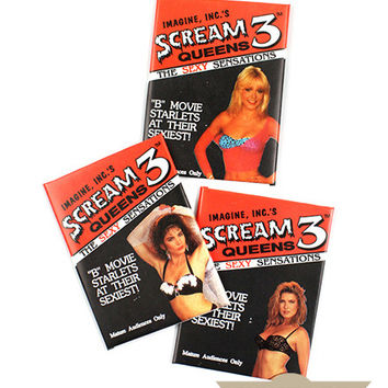 Scream Queens B-Movie Starlets Trading Cards (Set of 3 Packs)