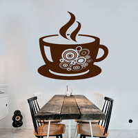 Vinyl Wall Decal Coffee Shop Cup Kitchen Decor Stickers (ig3987)