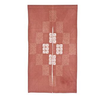 Japanese Noren Curtain Red Traditional Textile