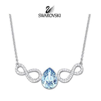 Swarovski Aqua Blue Crystal JEWELRY AFIRE Necklace #5038191