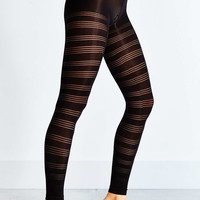 Sheer Thin Striped Footless Tight - Urban Outfitters