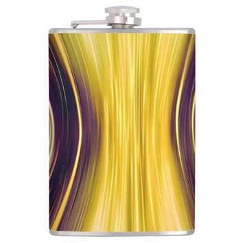 Brown Yellow Driving Dreams Vinyl Wrapped Flask