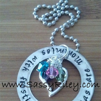Grandmas are Mommies with frosting! Hand Stamped Necklace