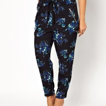 ASOS CURVE Exclusive Woven Peg Trouser In Winter Floral at asos.com