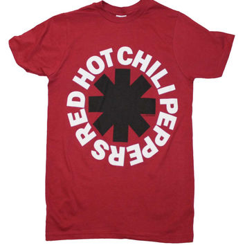 Red Hot Chili Peppers Black Asterisk Red