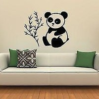 Wall Sticker Vinyl Decal Cute Panda Animal Bamboo Room Decor Unique Gift (ig1189)