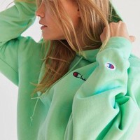 Champion & UO Powerblend Mini Logo Hoodie Sweatshirt - Mint Green