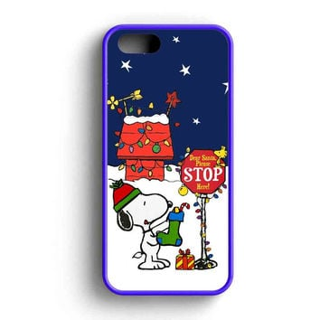 Snoopy Charlie Santa Christmas iPhone 5 Case iPhone 5s Case iPhone 5c Case