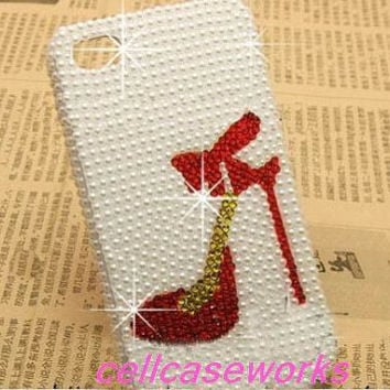 Cute samsung galaxy note 2 case galaxy note 1 case galaxy s3 case iPhone 5 Case cream white Pearl Heels inspired iPhone Case iPhone 4/4s