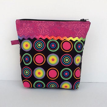 Zipper Pouch Phone Tablet Accessories Cable Organizer Cosmetic Case Make Up Bag Travel Purse Teacher Thank You Gift For Her Handmade in Usa