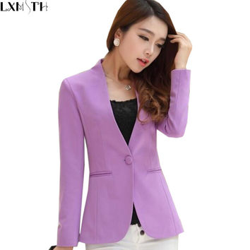 Blazer Feminino Plus Size Women Blazers And Jackets Slim Fit Suit Blazer Office Lady Blazer Mujer Coat White Blaser Mulheres