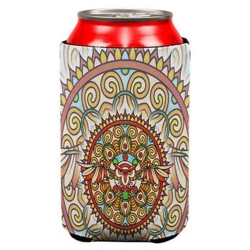 CREYCY8 Mandala Trippy Stained Glass Owl All Over Can Cooler