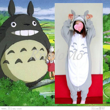 KIGURUMI Animal Pajamas Pyjamas Costume Onesuit Adult / Kid SLOTH -Totoro