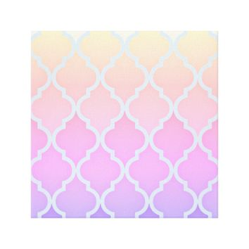 Summer Sunset Quatrefoil Canvas Print