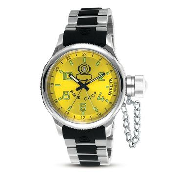 Invicta 7242 Men's Signature Russian Divers Yellow Dial Chronographs Watch