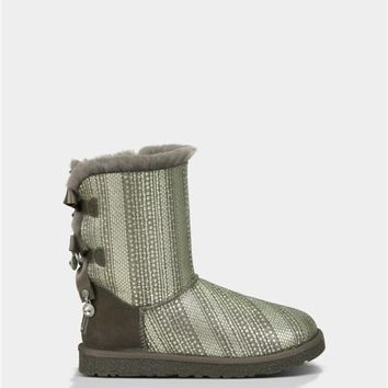 UGG Bailey Bow Bling Boots 1004791 Grey