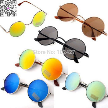 2015 Hot Sale New Fashion Promotional Discounts Unisex Hippie Shades Hippy 60S John Lennon Style Vintage Round Peace Sunglasses