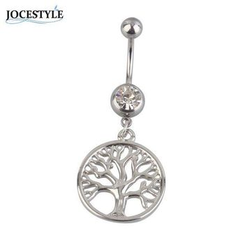 ac PEAPO2Q Tree of Life Dreamcatcher belly button piercing Navel Piercing Body Jewelry plugs and tunnels piercing nombril bikini accessory